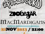 Palo Seko, Zoobazar Macmardigans, este viernes Madrid Concierto Benéfico Nutrición Fronteras