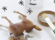 DIY, decorar animales plástico para Navidad