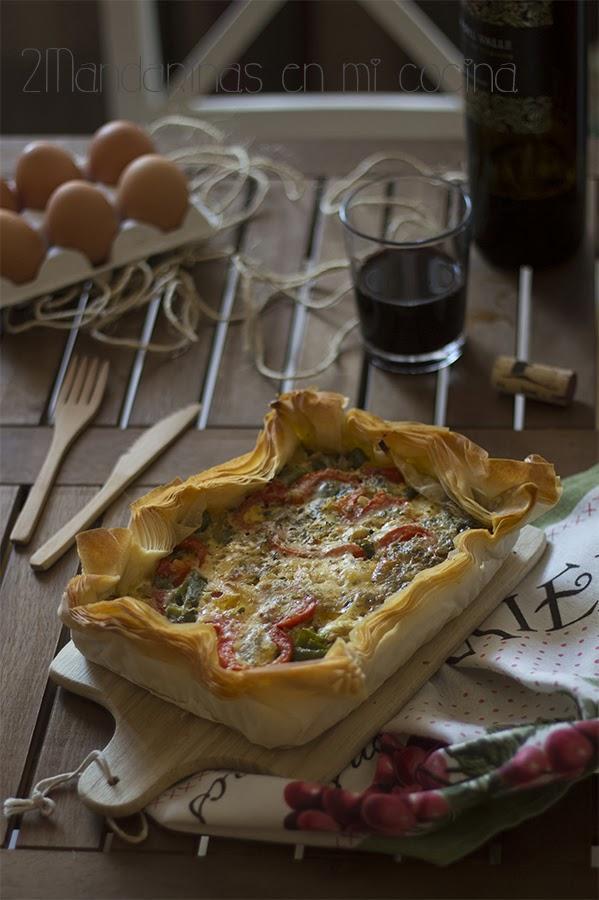 Pastel de verduras con pasta filo paperblog - Que hacer con la pasta filo ...