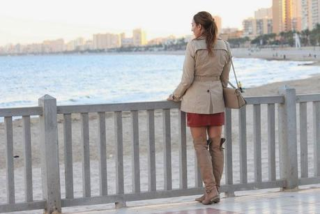 Trench + high-boots