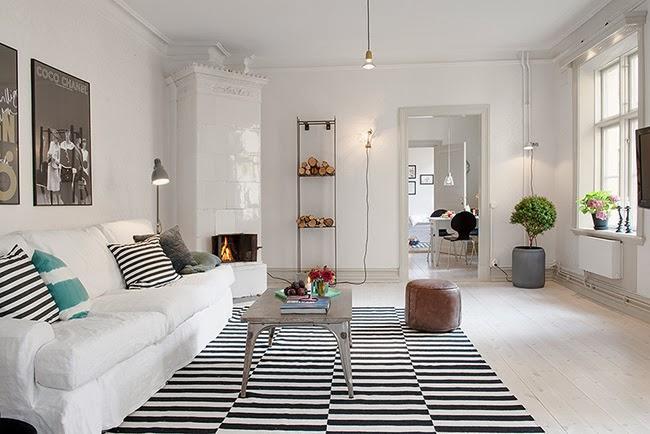 Ideas para meter color en un piso de estilo n rdico for Piso estilo nordico