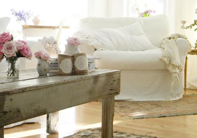 Os gusta el estilo shabby chic paperblog for Sofa estilo romantico