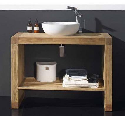 Lindos muebles de madera para el ba o paperblog - Muebles de madera para banos ...