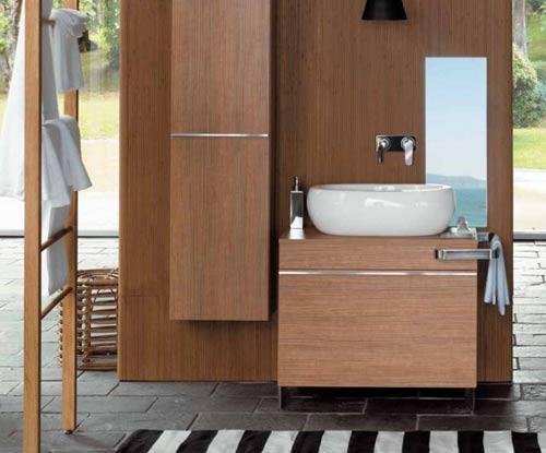 Lindos muebles de madera para el baño  Paperblog