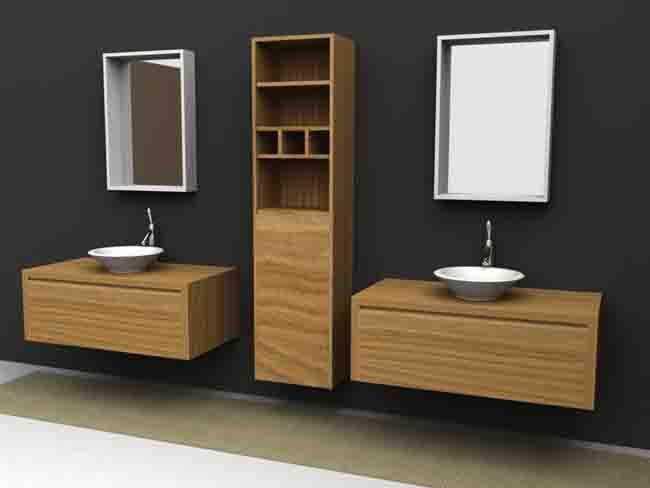 Lindos muebles de madera para el baño - Paperblog