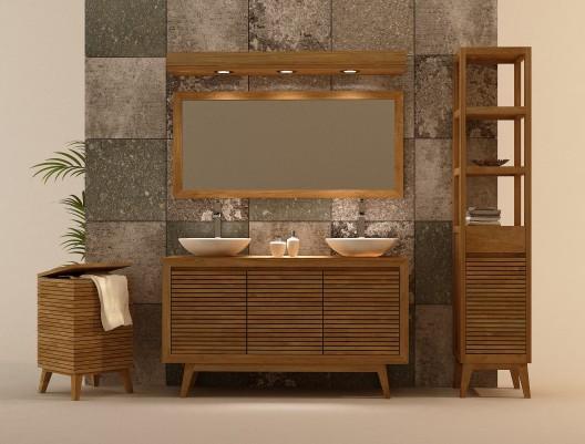 Lindos muebles de madera para el ba o paperblog for Modelos de muebles de madera