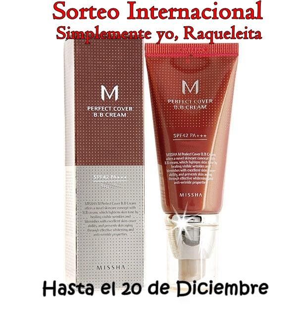Sorteo Internacional BB Cream Missha Perfect Cover