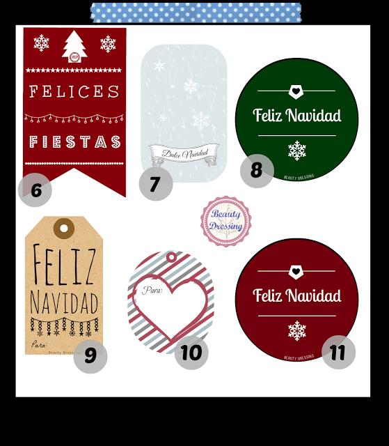 Freebies. Etiquetas regalos de Navidad imprimibles y gratis 1/2 ...