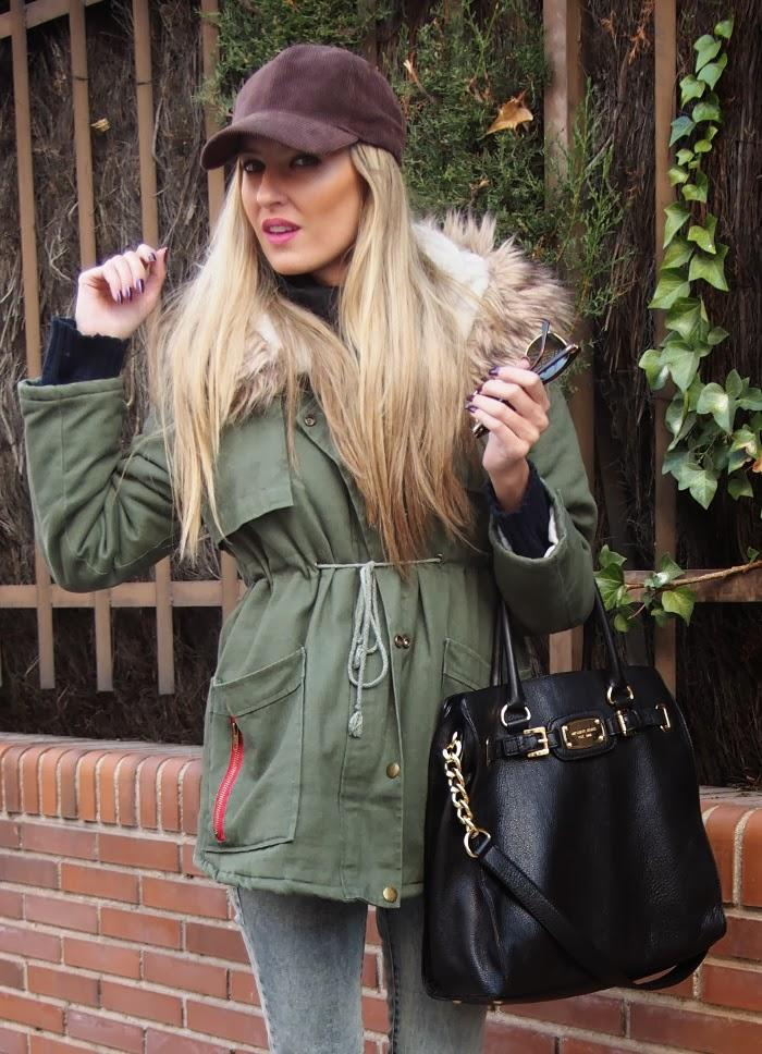 Parka and boots