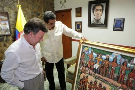 Juan Manuel Santos candidato del Castro-Madurismo