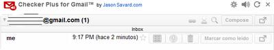 Notificador de correos Chrome
