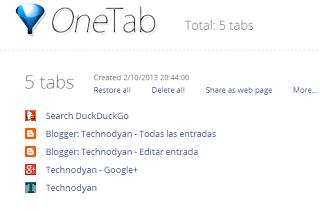 Ahorro de memoria RAM Chrome