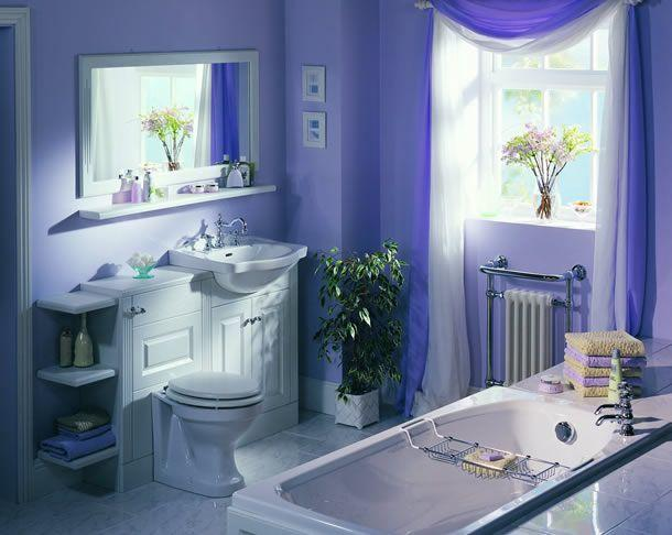 Hermosos ba os color violeta paperblog Most beautiful small bathrooms