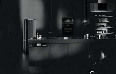 Dise o de cocinas color negro paperblog for Cocina con electrodomesticos de color negro