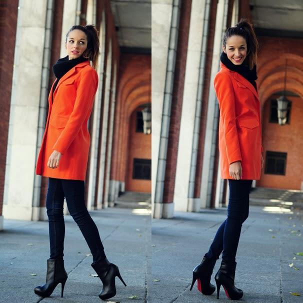 Tendencia abrigo naranja paperblog - Como conseguir color naranja ...