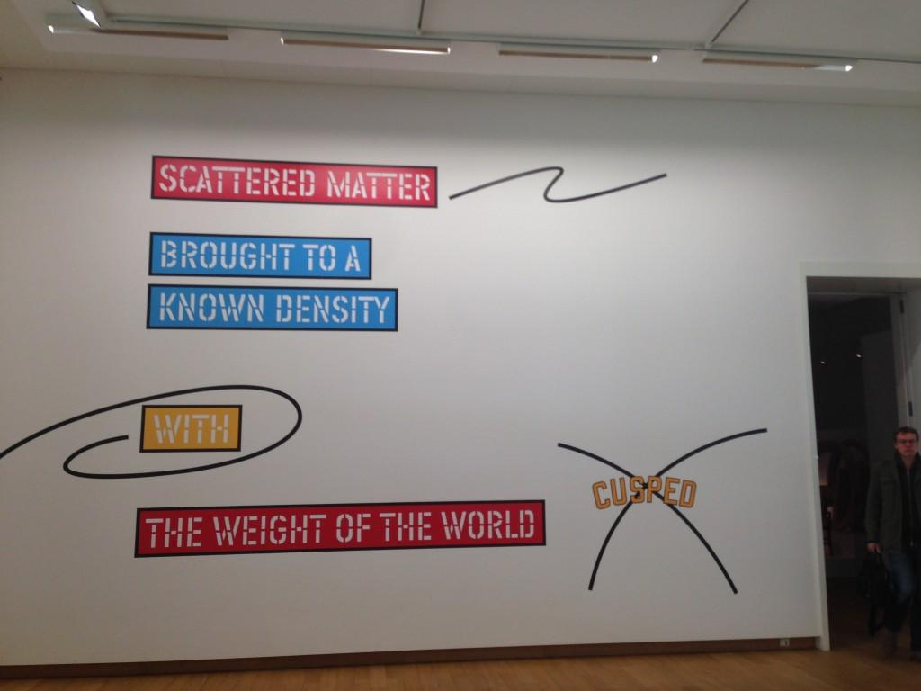 Lawrence Weiner Scattered matter/brought to a known density of the world/cusped, 2007 Vinilo