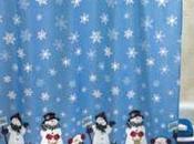 Cortinas baño motivos navideños