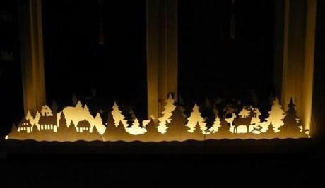 Decoración para escaparate de comercio en Navidad