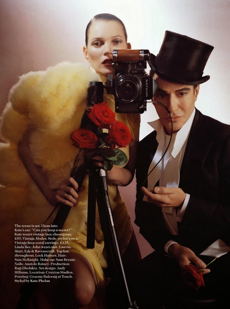 Kate Moss de la Mano de Galliano en Vogue Uk...