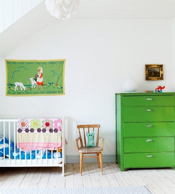 Viejos muebles pintados para cuartos infantiles - Paperblog