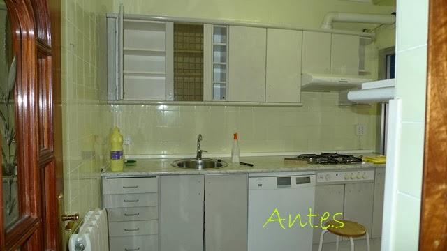 Antes y despu s la cocina de patricia despu s de pintar - Pintura para pintar azulejos de cocina ...