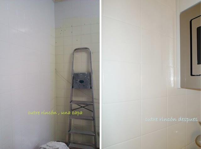 Antes y despu s la cocina de patricia despu s de pintar - Tapar azulejos cocina ...