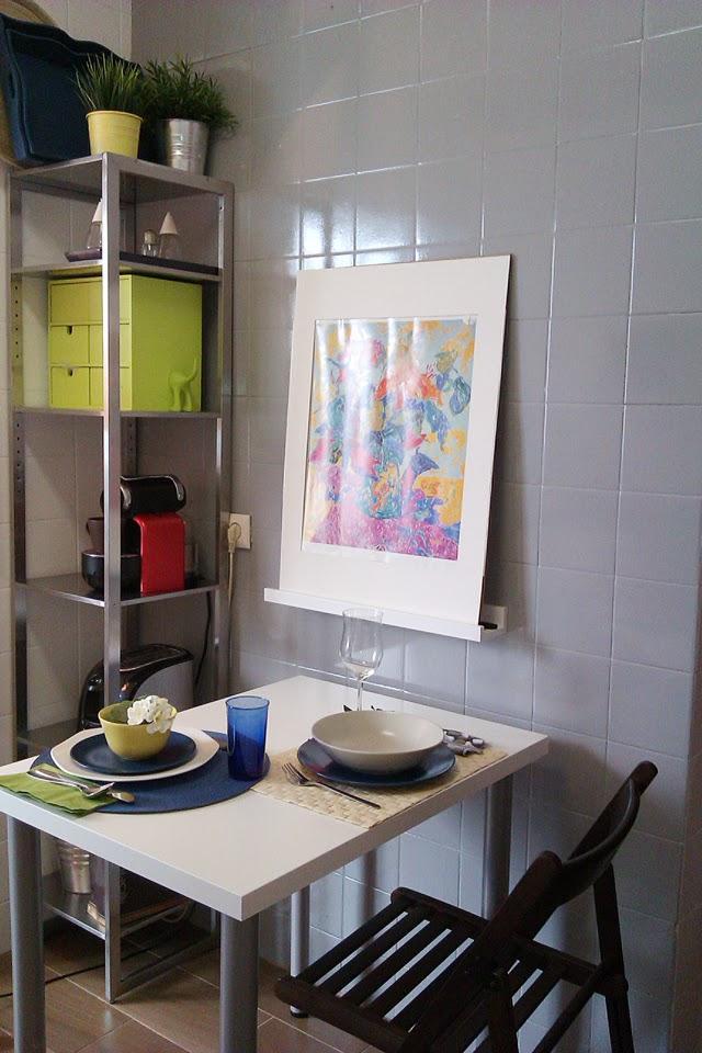 Antes y despu s la cocina de patricia despu s de pintar los azulejos paperblog - Pintar azulejos cocina antes y despues ...