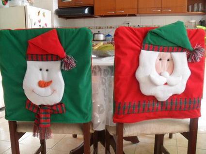 Fundas para sillas de navidad + VIDEO - Paperblog