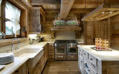 Chalet rustico en las montanas de courchevel paperblog for 1850 design della cucina