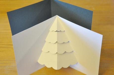 felicitacion navidad postal DIY papeleria manualidades