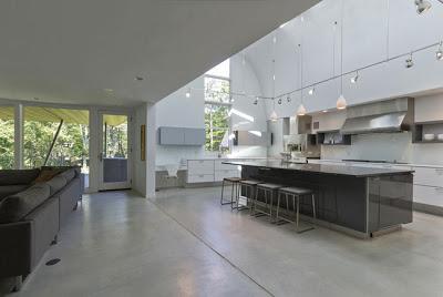 casa minimalista entre el bosque paperblog