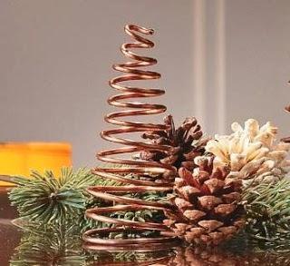 Arbol de navidad casero paperblog - Arbol de navidad de alambre ...