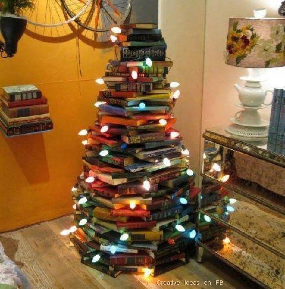 Decoración Navideña: Hazte una árbol con lo que tengas en casa ...