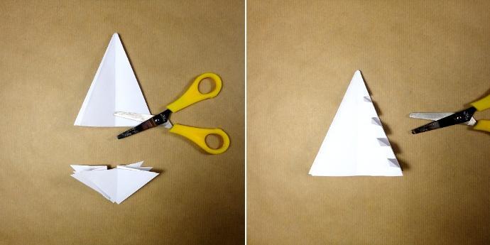 Prepara un rbol de navidad con un cuadrado de papel - Como hacer un arbol de navidad de papel ...
