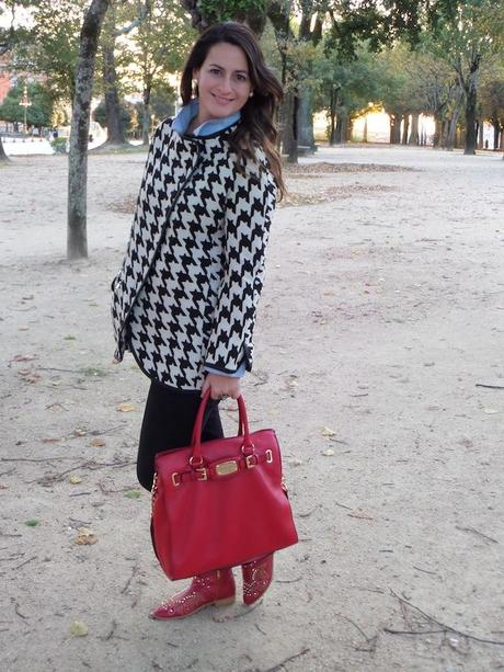 houndstooth & red