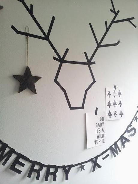 DIY Navidad: Dibujar ciervos con washi tape