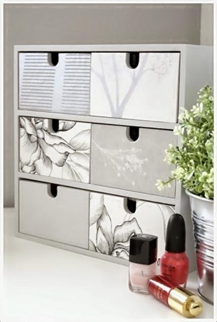 5 ideas decorativas con d e c o u p a g e paperblog - Cajoneras pequenas ...