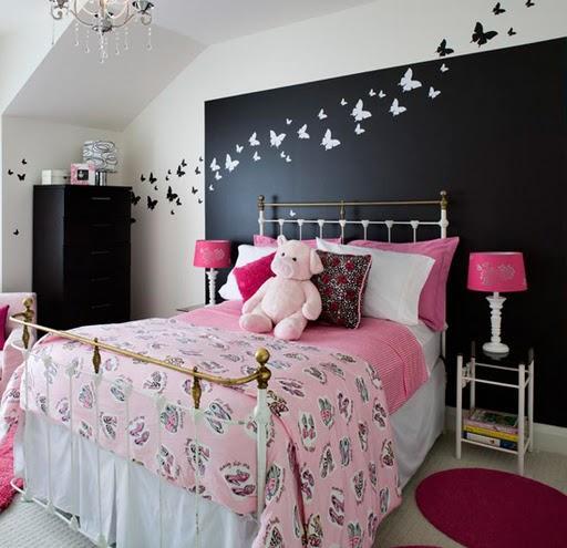 un dormitorio de pareja parece buena idea, ya que las mariposas