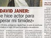 David Janer: hice actor para superar timidez Revist...