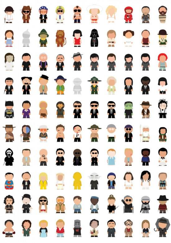 100 personajes famosos: