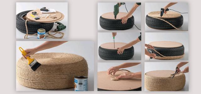 Decorar con ruedas de coche paperblog - Decorar reciclando muebles ...