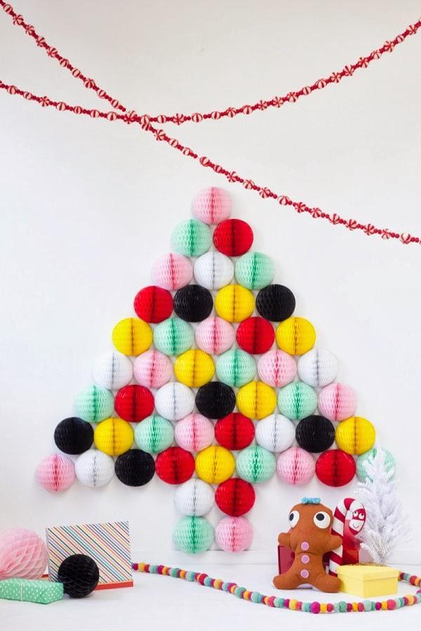ideas para hacer un rbol de navidad diferente with ideas para arbol de navidad