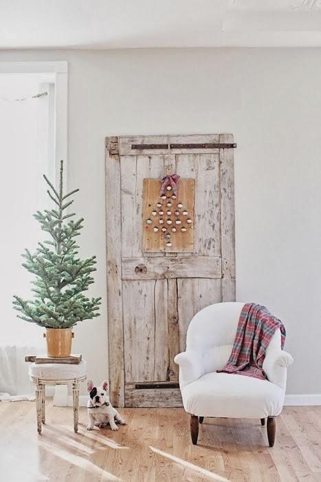 decoracion navide a shabby chic con puertas viejas