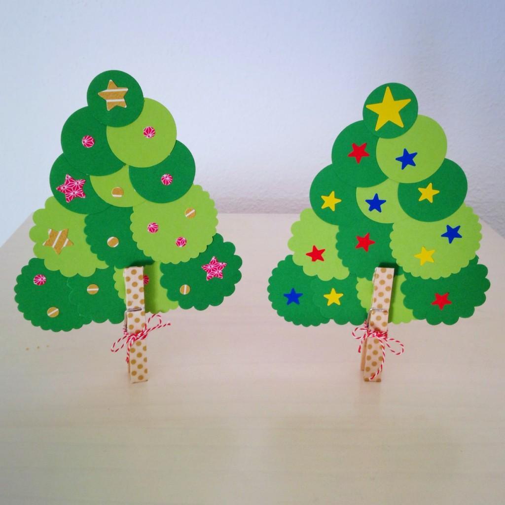 Diy un rbol de navidad f cil f cil para hacer con los - Como decorar el salon en navidad ...
