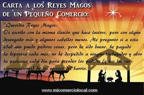 Carta a los Reyes Magos de un pequeño comercio