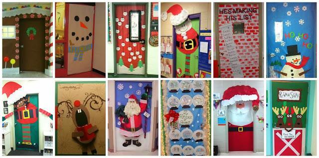 Recursos ideas para decorar y preparar el aula para for Decoracion de navidad para ventanas y puertas