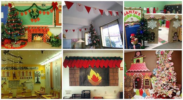 Recursos ideas para decorar y preparar el aula para - Navidad ideas para decorar ...