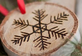 Diy adornos de navidad con madera grabada paperblog - Diy Adornos De Navidad Con Madera Grabada Paperblog