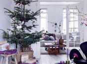 casa nórdica: Navidad lila, púrpura morado