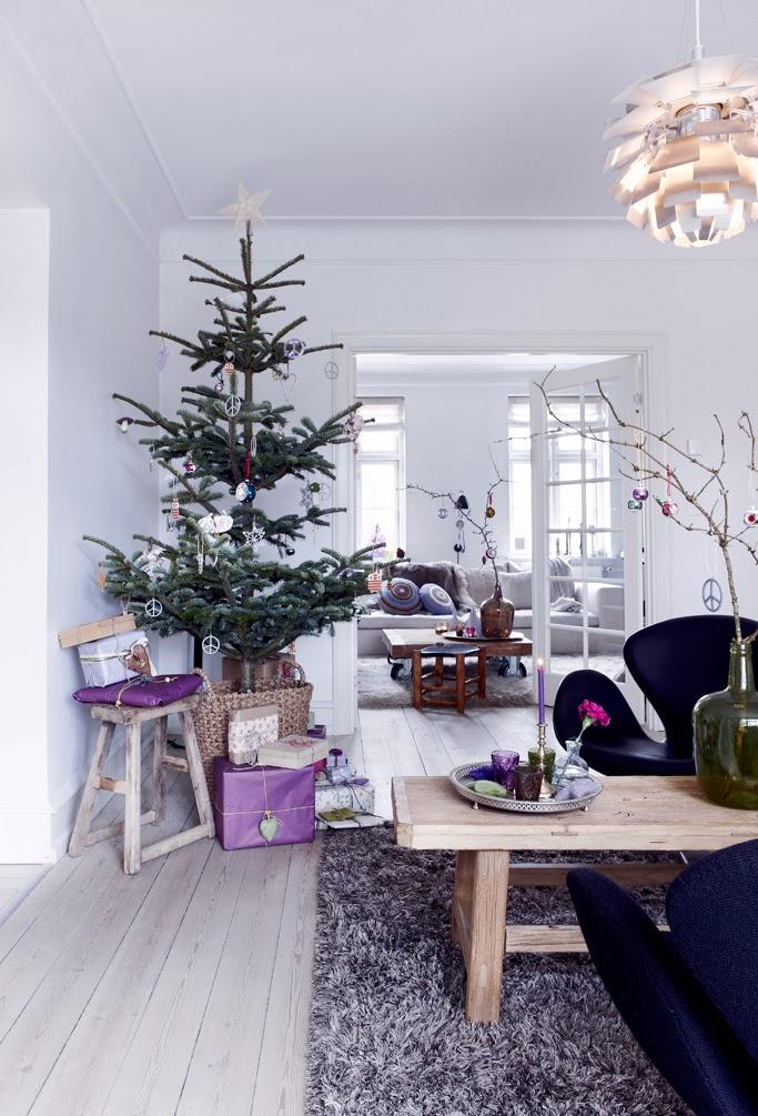 Casa n rdica navidad en lila p rpura y morado paperblog for Blogs decoracion nordica